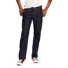 Big & Tall Levi's 514 Straight-Fit Jeans ($50) ❤ liked on Polyvore featuring men's fashion, men's clothing, men's jeans, blue, levi mens jeans, mens blue jeans, mens jeans, mens big and tall jeans and mens straight jeans