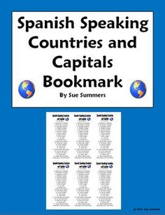 Spanish-Speaking Countries and Capitals Project, Fun Activities ...