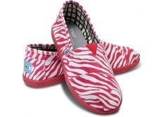 OMG!  Pink Zebra Toms!!!  Kieran & Kenzie will flip out!