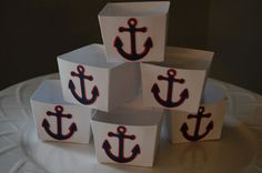 Candy Cups, Nut Cups, Dessert Cups, Shower Favors, Wedding Favors, Birthday Favors, Nautical Theme,  12 Pcs. $12.00, via Etsy.