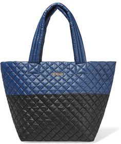 MZ Wallace - Metro Two-tone Quilted Shell Tote - Navy