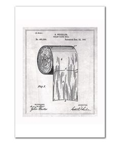 See? -- There really is a RIGHT way to hang the toilet paper! Love this Toilet Paper Roll 1891 Art Print by Oliver Gal on #zulily! #zulilyfinds