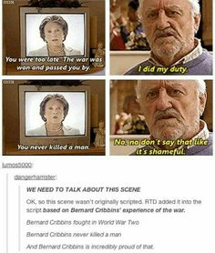 Bernard Cribbins you role model <3 brilliant as Wilfred Mott and really cool #DoctorWho #BernardCribbins