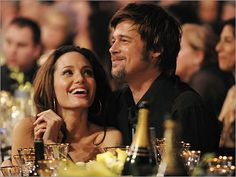 Angelina Jolie and Brad Pitt Hollywood Music, Hollywood Couples, Celebrity Couples, Angelina And Brad Pitt, Brad And Angie, Brad Pitt Haircut, Jolie Pitt, Star Wars, Famous Couples