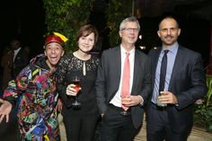 Abigail Pesta, photobombed by a clown at the Lowline Anti Gala