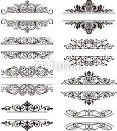 img Stencil Patterns, Stencil Designs, Tattoo Cover, Molduras Vintage, Estilo Tribal, Cnc Cutting Design, Motif Art Deco, Page Borders Design, Wood Carving Designs