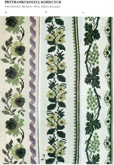 Cross Stitch Art, Cross Stitch Designs, Polish Embroidery, Diy Flowers, Fashion Pants, Quilts, Crochet, Handmade, Crafts