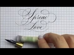 Super Satisfying Copperplate Calligraphy Compilation #2 - YouTube