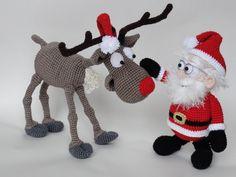 Santa Claus and Rudolf |