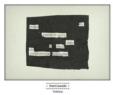 "Poesia ""achada"" no jornal do dia 11/01 pela poeta Ana Guadalupe."