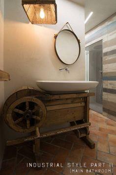 Mobile lavello vintage - un vecchio attrezzo agricolo trova nuova vita : Pia por Rachele Biancalani Studio