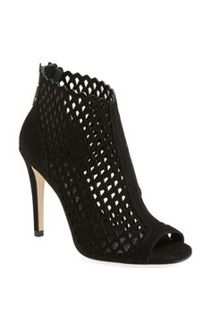 Ivanka Trump 'Didia' Cutout Cage Open Toe Suede Bootie (Women) available at #Nordstrom