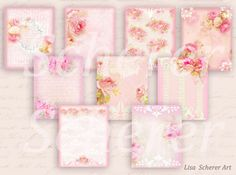 Printable Tags, Floral Hang Tags Gift Tags, Shabby Hang Tags, Personal Tags, Chic Rose Shabby Tags, Romantic Rose Tags, Wedding Hang Tags