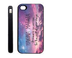 RUBBER Apple iPhone 4 4G 4S / iPhone 5  / Samsung s3 Case Cover Skin Hakuna Matata Mobile Phone Accessory. $15.00, via Etsy.