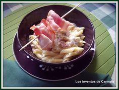 LOS INVENTOS DE CARMELA: THERMOMIX: MACARRONES EXPRESS A LA CARBONARA