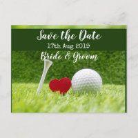 Golf Wedding Invitation Cards and Party Supplies - Thaninee Media Golf Invitation, Postcard Wedding Invitation, Save The Date Invitations, Save The Date Cards, Wedding Invitations, Invites, Invitation Design, Golf Wedding, Sports Wedding