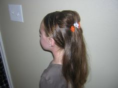Princess Braids.  More Info can be found at this link.  http://www.princesshairstyles.com/2009/11/tween-hairstyle-princess-braids.html