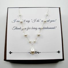 Bridesmaid necklace set Pearl bridesmaid by StarringYouJewelry