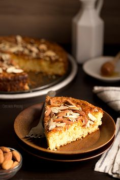 Um, we'll take two slices please. Vanilla Honey Almond Cake from @chocolatemoosey