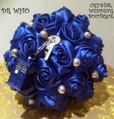 Dr Who inspired wedding bouquet for the bride by CrystalWeddingBtq