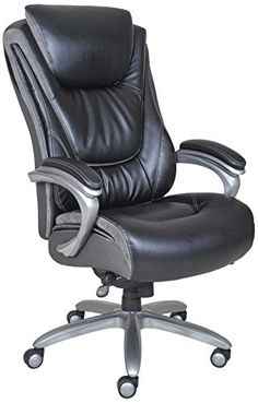 serta smart layers leather executive chair black executive