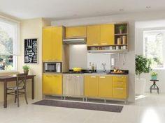 Cozinha Compacta Multimóveis Sicilia com Balcão - Nicho p/ Forno ou Micro-ondas 11 Portas 3 Gavetas