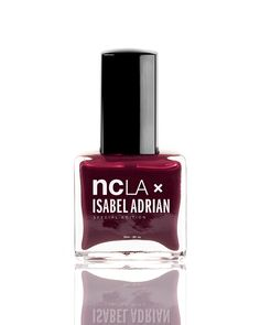 This burgundy tone by #NCLA Nail Lacquer is a little bit more reddish than clear the runway - perfect for blondes!