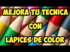 (12) Cómo pintar con lápices de colores - Tutorial - YouTube