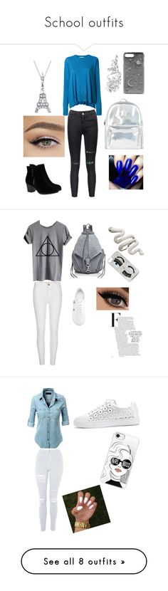 School outfits by lauraa-22 on Polyvore featuring polyvore fashion style STELLA McCARTNEY Skechers CHARLES & KEITH Bling Jewelry Accessorize clothing River Island WithChic Rebecca Minkoff Versus Chiara Ferragni LE3NO Topshop Casetify Full Tilt H&M Balenciaga Kenneth Jay Lane INIKA Boohoo Paige Denim MAC Cosmetics Mansur Gavriel Natasha Zinko Converse adidas Velvet by Graham & Spencer CITYSHOP Madewell Olivia Burton J.Crew Urban Expressions Kate Spade Coach