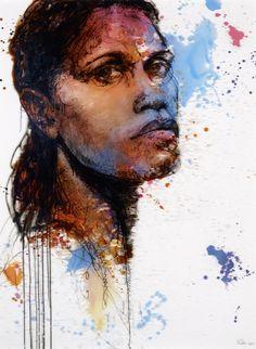 Craig Ruddy: Cathy Freeman :: Archibald Prize 2011 :: Art Gallery NSW