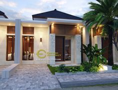 Row House Design, Modern House Design, Door Design, Exterior Design, Modern Minimalist House, Small Modern Home, Cluster House, Hacienda Style Homes, 3d House Plans