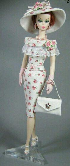 Silkstone Barbie in flower dress