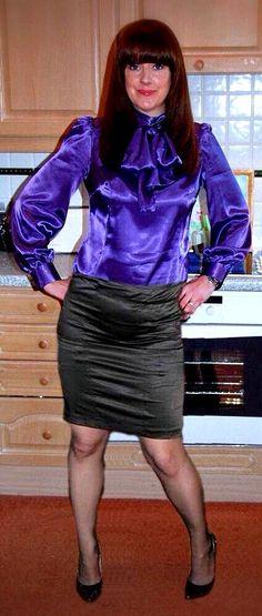 Much better in a satin skirt