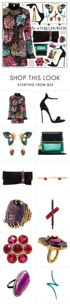 """""""Wild Flower!"""" by hennie-henne ❤ liked on Polyvore featuring Millie Mackintosh, Casadei, Mulberry, Marc Jacobs, Jimmy Choo, AYA, By Terry, Clarins, Oscar de la Renta and ADORNIA"""