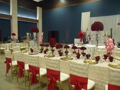 Red and Gold Wedding Floral by Bella by Sara in Austin, TX http://bellabysara.com/