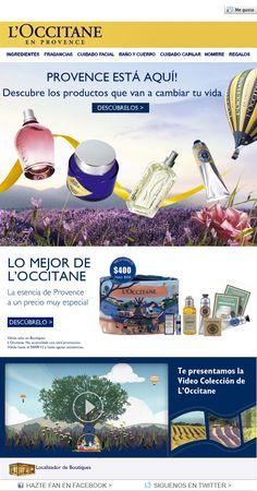 Mailing Mozoom - Descubre la Provence con l'Occitane