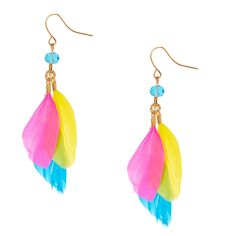 Claires Girls 1 Squishy Rainbow Poo Drop Earrings