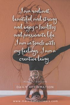 It is our energetic center of sexuality, pleasure and passion.Here are 20 affirmations to raise the vibration of your Sacral chakra: Chakra Heilung, Sacral Chakra Healing, Chakra Affirmations, Positive Affirmations, Healing Meditation, Mindfulness Meditation, Reiki, Second Chakra, Spiritus