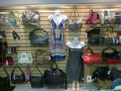 new display walls full of designer items at our lilburn location