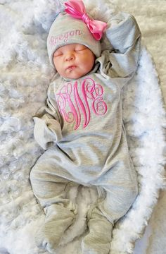 d1babdd9853 Baby Girl Footed Sleeper Baby Girl Take Home Outfit Newborn Baby Girl  Personalized Footed Sleeper Romper