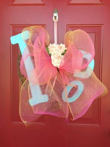 Pinning this more for the ribbon!  I love the sheer and the mix of pink & orange!  Where can I find this ribbon!? --- Bridal Shower Ideas