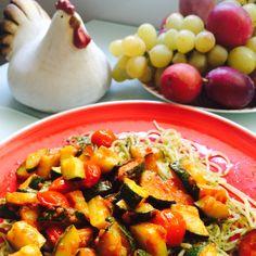 #pesto #pasta #ratatouille #sábados #cocinasaludable #alone