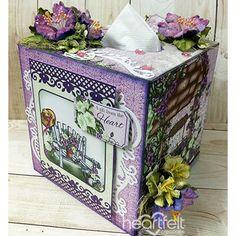 Heartfelt Creations - Petunia Tissue Box Project