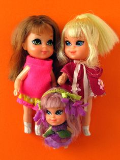 Liddle kiddles.  These were my imaginary friends.  I wanted them to be alive sooooo bad!