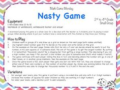 Math Game Monday time! - Teaching Maths with Meaning