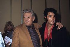 Elvis Presley with his father Vernon Presley 1969