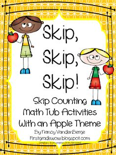 "Skip Counting Math Tub Activities with an Apple Theme, ""Skip, Skip, Skip!"""