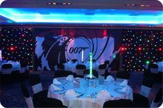 Many top casino night hire companies offer themed events such as las vegas and James Bond. Here is a photo taken from a more recent 007 party. When organising a themed casino night make sure you bo… Party Food Themes, Casino Party Decorations, Casino Theme Parties, Party Centerpieces, Themed Parties, Table Decorations, James Bond Party, James Bond Theme, James D'arcy