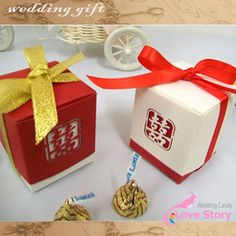 mobile site-Free Shipping Wholesales 100pcs/Lot Wedding Favors box double happiness candy box hollow out Chinese double happpiness