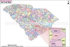 South Carolina State Map With Counties And Cities.16 Best Maps Images Maps Destinations History